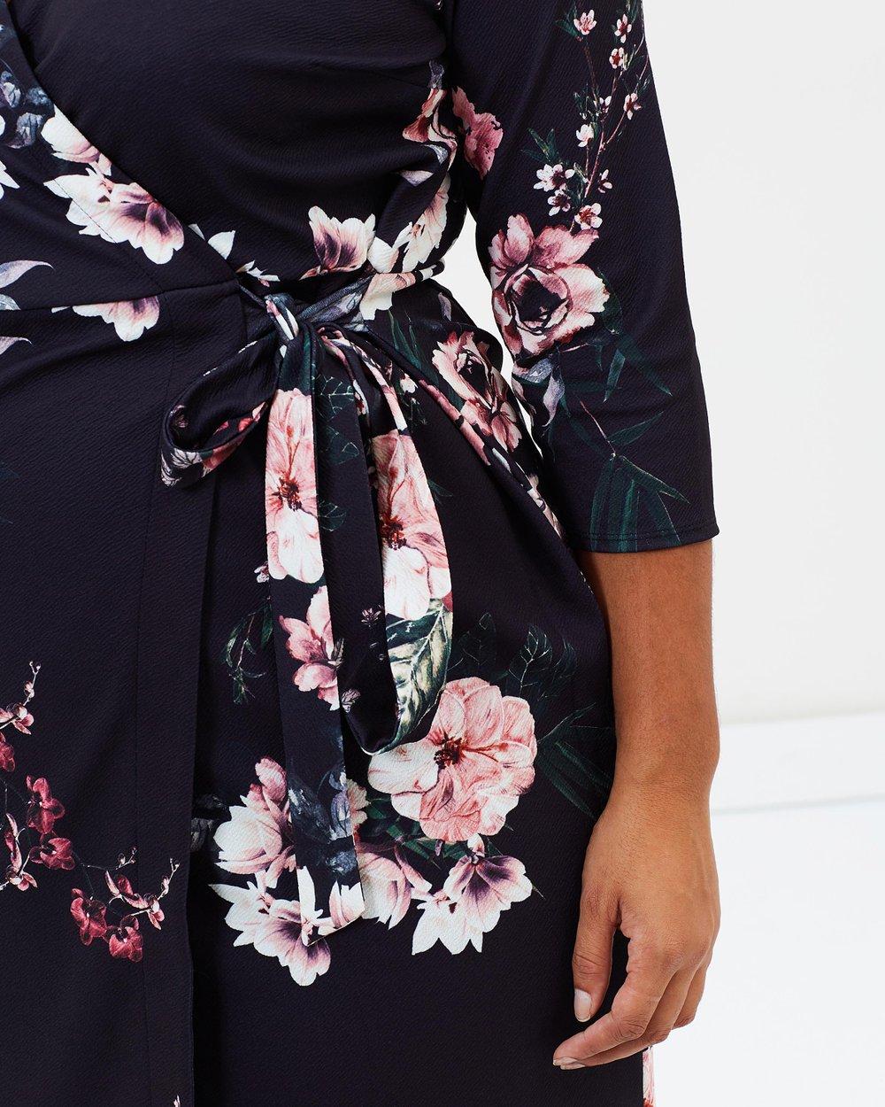 3be04d0d81f Floral 3 4 Sleeve Wrap Dress by DP Curve Online