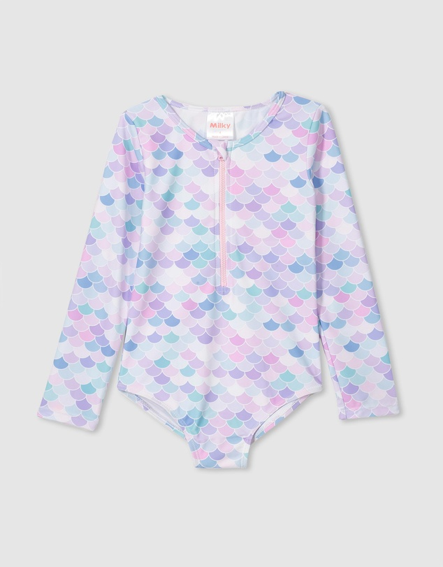 Milky - Mermaid LS Swimsuit - Babies