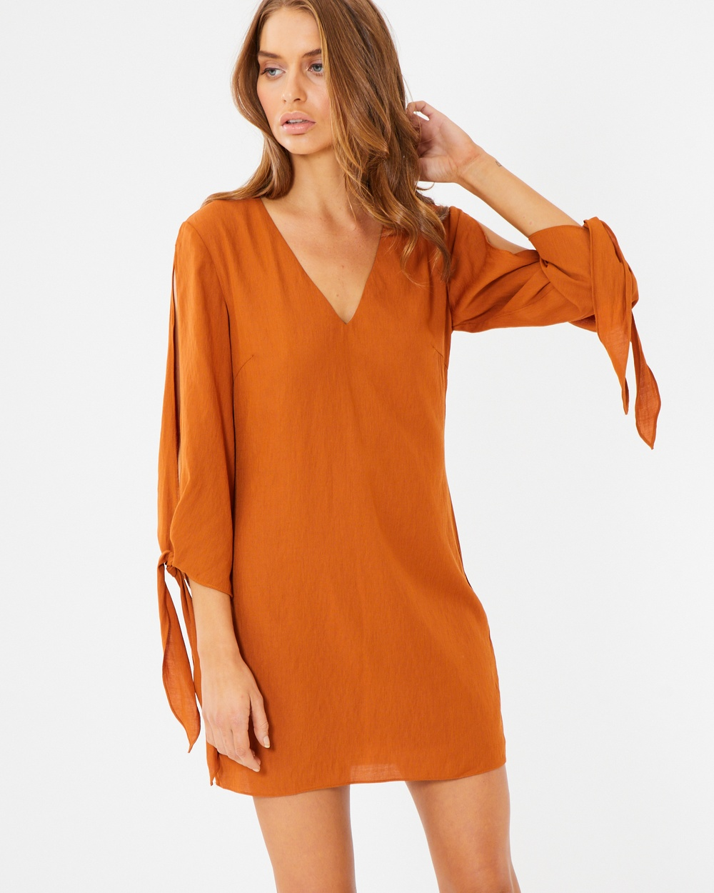 Tussah Monica Shift Dress Dresses Rust Monica Shift Dress