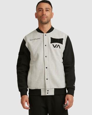 RVCA Everlast Stadium Jacket - Coats & Jackets (HEATHER GREY)