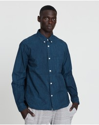 snow peak - Organic Cotton Button-Down Shirt