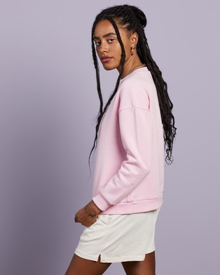 Cools Club - Leisure Embro Sweatshirt Sweats (Pink)