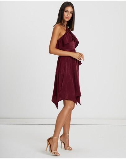 Tussah Henderson Halter Dress Berry
