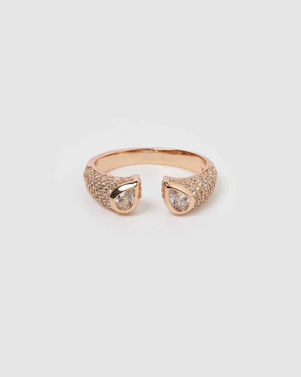 Izoa Ominia Ring Jewellery Rose Gold