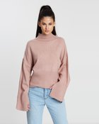 Open Sleeve Knitted Sweater