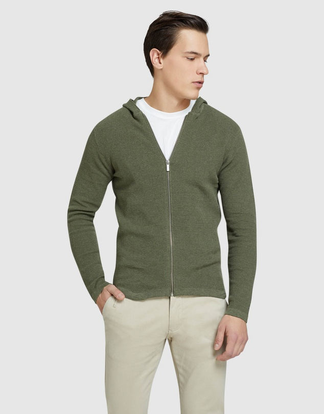 Oxford - Hutch Zip Up Cardigan