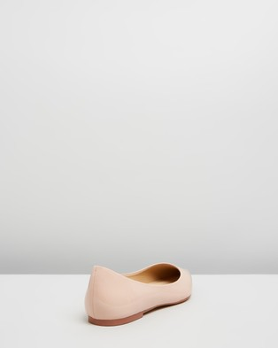 Atmos&Here Kate Leather Flats - Ballet Flats (Nude Patent Leather)