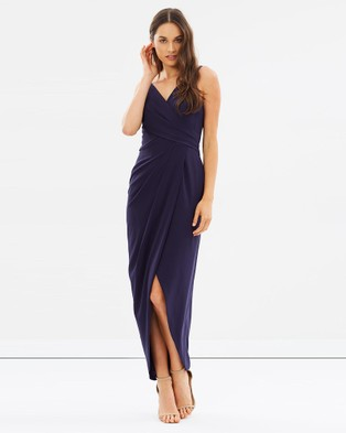 Alabaster The Label – Athena Dress – Bridesmaid Dresses Navy