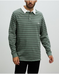 Stussy - Plain Stripe LS Rugby Polo