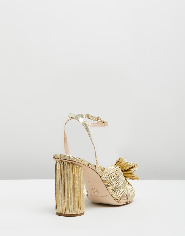 Women Camellia Knot Mules with Ankle Strap