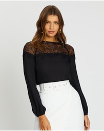 Atmos&Here - Dakota Lace Panel Blouse