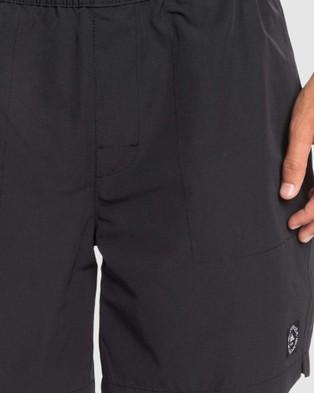 Quiksilver Mens Alston Elasticated Shorts - Chino Shorts (Black)