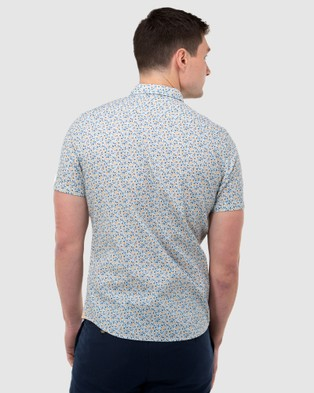 Brooksfield Abstract Print Short Sleeve Casual Shirt - Casual shirts (WHITE)