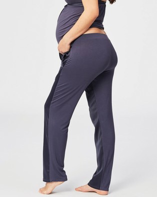 Cake Maternity Gateau PJ Lounge & Sleeping Maternity Pants - Sleepwear (Grey)