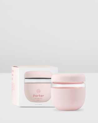 Porter Seal Tight Glass Bowl 710ml - Home (Pink)