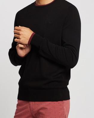 Ben Sherman Script Basic Crew Knit - Jumpers & Cardigans (Black)