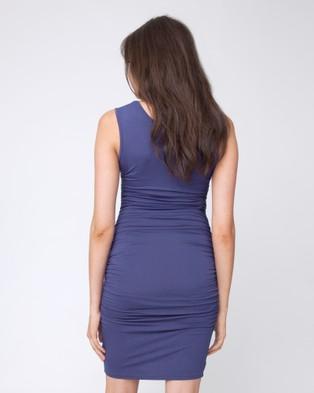 Ripe Maternity Cocoon Tank Dress - Dresses (Indigo)
