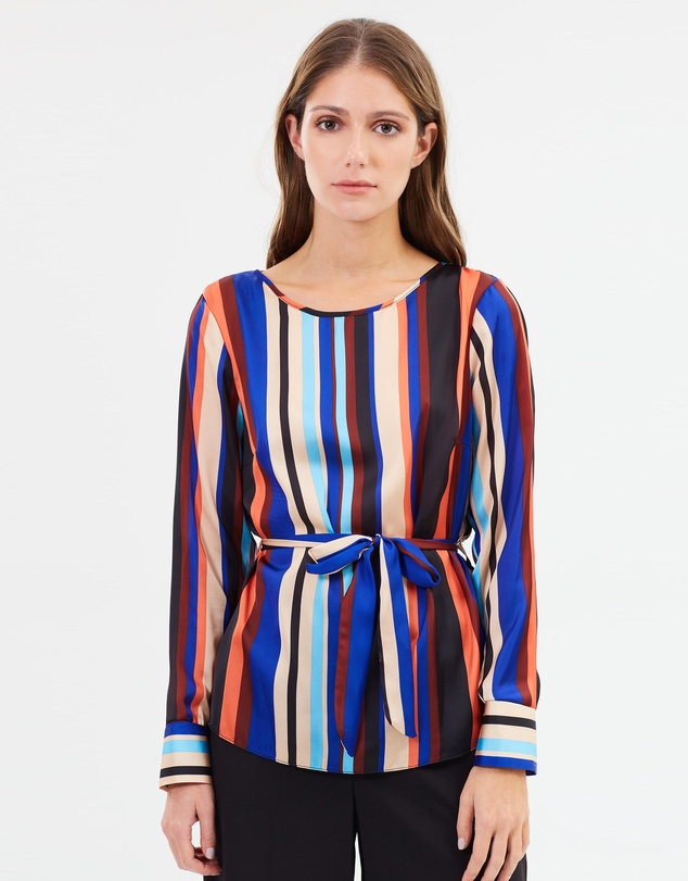 708c7dbf424 Striped Long Sleeve Top