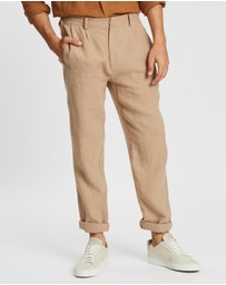 AERE - Linen Pleated Pants