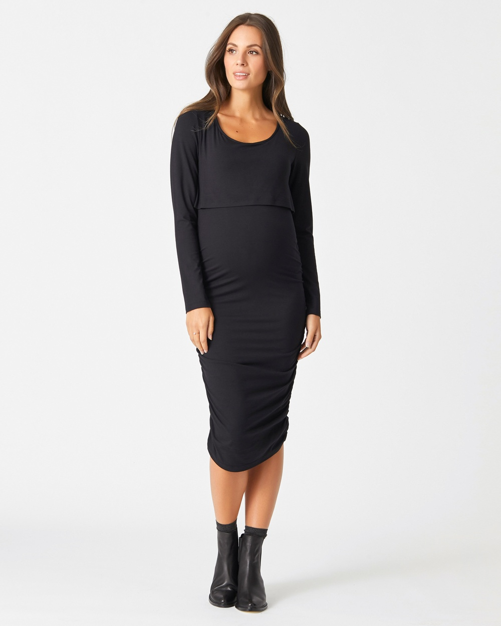 Pea in a Pod Maternity Black Lindsay Dress