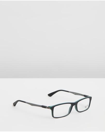 Ray-ban Optical Rb7017 Black & Gunmetal