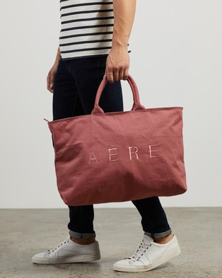 AERE Organic Canvas Zip Tote - Bags (Pink)