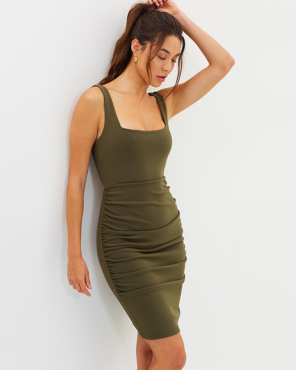 Fresh Soul Talent Dress Bodycon Dresses Khaki Talent Dress