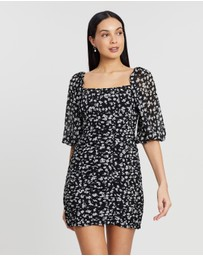 Atmos&Here - Nala Ruched Floral Dress