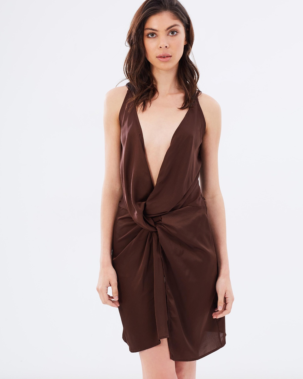 Lioness In Your Dreams Silky Dress Dresses Deep Brown In Your Dreams Silky Dress