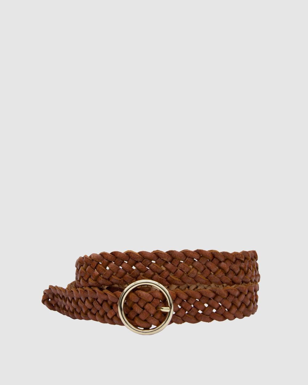 Loop Leather Co Catrina Belts Dark Tan