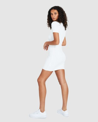 Alice In The Eve Emily Button Knit Dress - Dresses (WHITE)