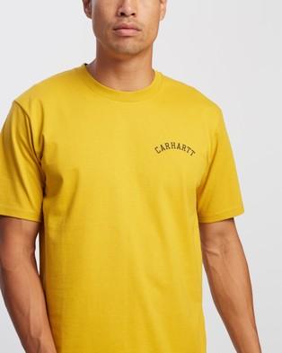 Carhartt SS University Script T Shirt - T-Shirts & Singlets (Colza & Black)