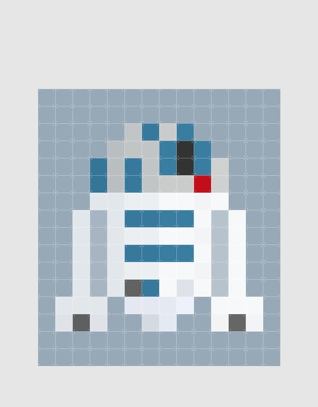Life Wall Art Star Wars R2D2 Pixel