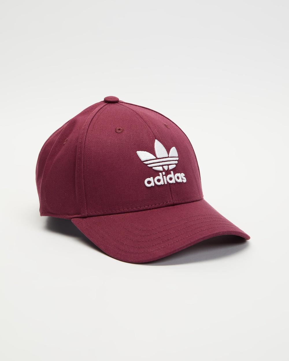 adidas Originals Trefoil Baseball Cap Headwear Victory Crimson