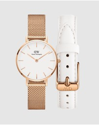 Daniel Wellington - Gift Set - Petite Melrose 28mm + Leather Strap Bondi