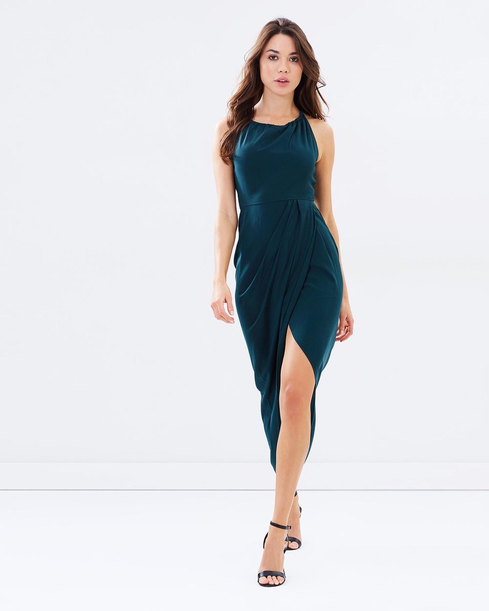 bc3f538b992 Shona Joy Core High Neck Ruched Dress Bridesmaid Dresses Seaweed Core High  Neck Ruched Dress