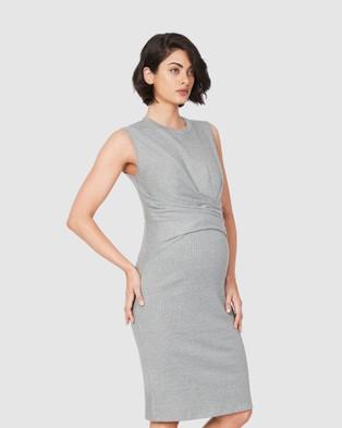 Soon Maternity Tara Sleeveless Dress - Bodycon Dresses (Grey)
