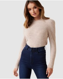 Forever New - Ava Brushed Pleat Sleeve Jumper