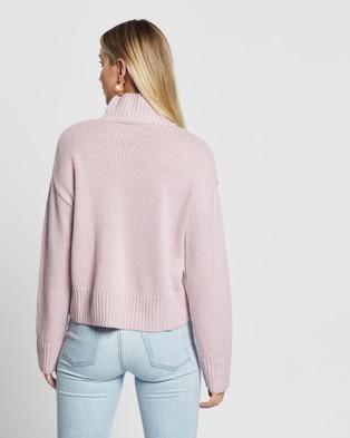 Third Form Lift Up Knit Turtleneck - Jumpers & Cardigans (Lavender)