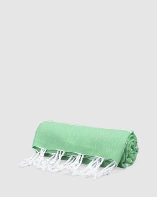 Tolu Australia Thin Turkish Towel - Towels (Light Green)