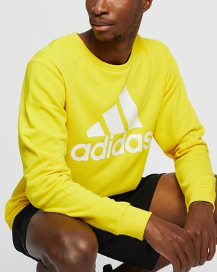 adidas Performance Essentials Big Logo Sweatshirt - Crew Necks (Yellow & White)