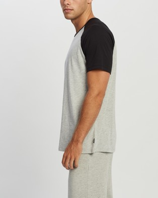 Bonds Essential Raglan Tee - T-Shirts & Singlets (New Grey Marle & Black)