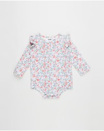 Cotton On Baby - The Long Sleeve Ruffle Bubbysuit - Babies