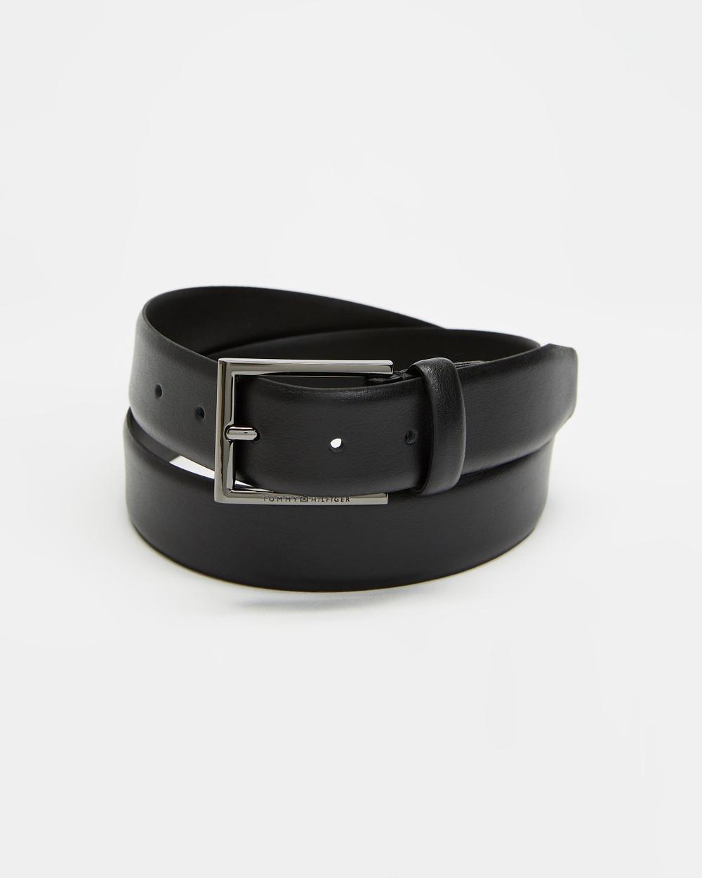 Tommy Hilfiger Formal Leather Belt 3.5cm Belts Black