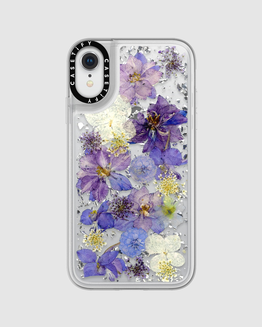 Luxe Pressed Flower Phone Case for iPhone XR  Lavender - Tech Accessories