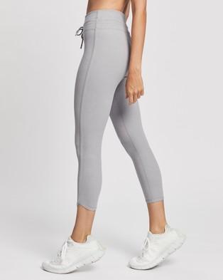 Lorna Jane Glory Ankle Biter Leggings - 7/8 Tights (Concrete Grey)