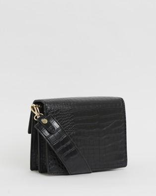 Calli Forrester Concertina Bag - Handbags (Black Croc)