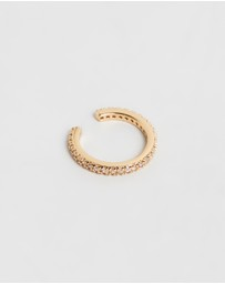 Orelia London - Fine Pave Single Ear Cuff