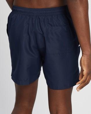 Calvin Klein Core Placed Logo Medium Drawstring Swim Shorts - Swimwear (Black Iris)