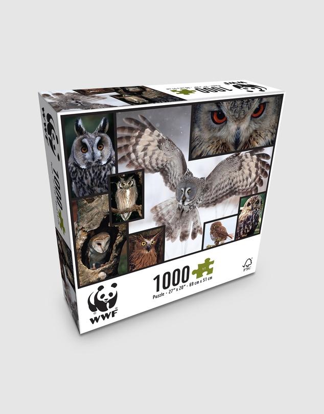 Kids 1000 Piece Puzzle - Owls